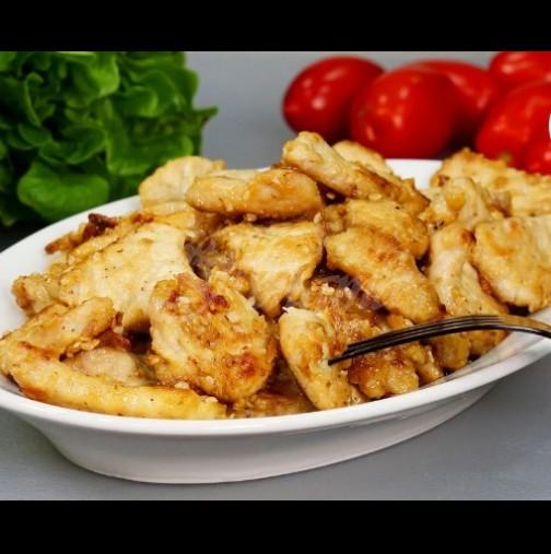 Лесна марината за крехко и сочно пилешко - намазваш и за 5 минути на тиганче става мозък! Топи се в устата: