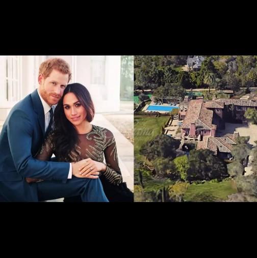 ЕКСКЛУЗИВНО! Меган и Хари с нов дом за 14 милиона в САЩ - вижте красивото имение и кой плати за него (Снимки):