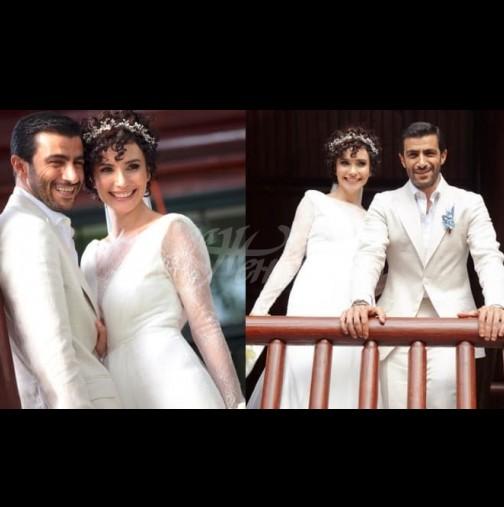 Турската актриса Сонгюл Йоден от популярния сериал Перла се омъжи! (Уникални снимки от сватбената церемония)