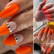 Колекция оранжеви маникюри (Снимки):