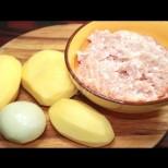 Когато бързам, взимам кайма, картофи, лук и готвя вкусна вечеря! Видео рецепта