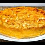 Много пълнеж и малко тесто! Ябълков пай с кисело мляко, по-вкусен от шарлота