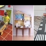 17 идейни играчки от кашон за сръчни родители и малки любопитковци (Снимки):
