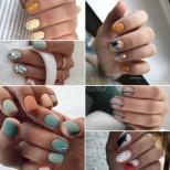 Идеи за всекидневен маникюр за къси нокти в гореща есен