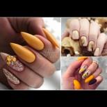 28 бижута на есента - 28 маникюра в жълто и златно! Нежни, благородни, фантастично красиви (Снимки):