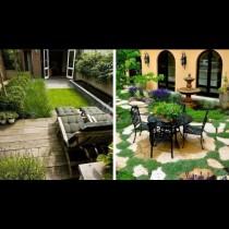 18 удивително красиви дизайна за малкия двор - уют, изчислен до сантиметър! (Снимки):