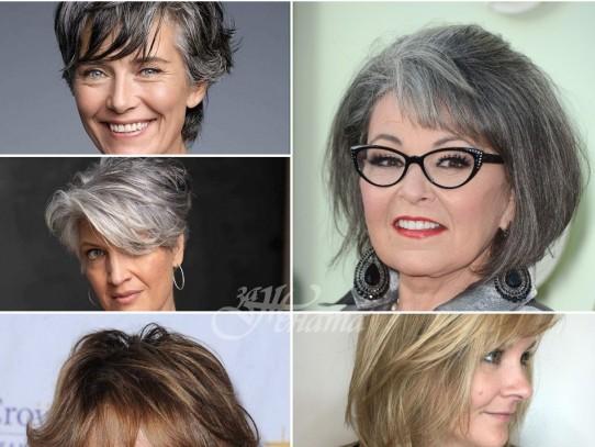 Топ 10 прически с бретон за жени след 50