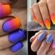Маникюри градиент с цветовете на залеза (Снимки):