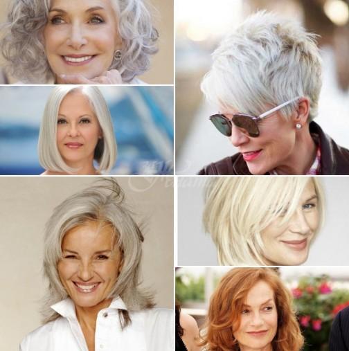 Модерни прически за къса коса за жени след 40 години