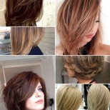 Стилни прически на етажи за средна коса