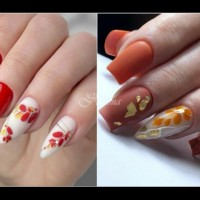 Великолепни есенни маникюр - вкус и стил (Снимки):
