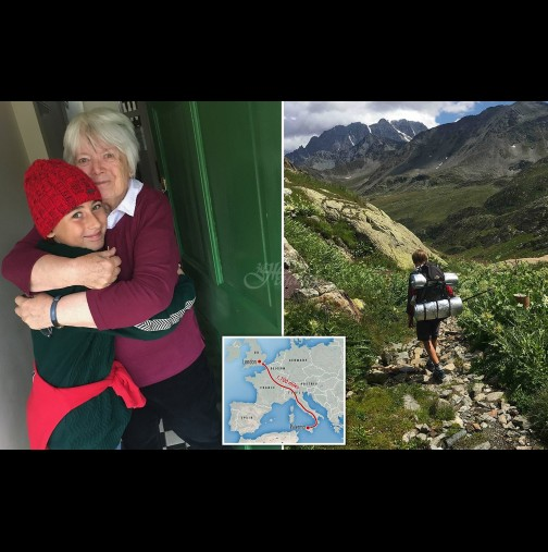 Урок по обич: 10-годишно момче извървя 2800 км за 3 месеца, само за да прегърне баба си! (Снимки):