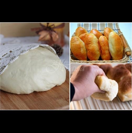 Вълшебно пухено тесто без яйца и мазнина! Каквото и да изпечеш от него, става на конци и се топи в устата!