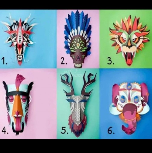 Изберете маска и разкрийте истинското си лице. Този тест ще ви покаже за какво мечтаете тайно, но се страхувате да го признаете.