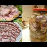 Рецепта на баба за налагане на сланина в буркан за съхранение