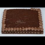 Шоколад отгоре, шоколад отдолу, без масло, брашно и захар, какво повече да иска човек, освен още 1 парче