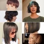 Модерни прически с прав бретон 2021 за уверени жени