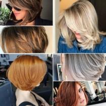 Прически на етажи за къса, права коса 2021