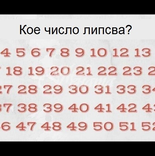 Единици успяват да открият отговора за под 10 секунди - кое число липсва?