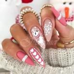 22 бонбонено-сладки зимни маникюра - ще ви вдигнат настроението по-добре и от скъп подарък! (Снимки):