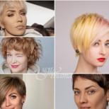 Прически с бретон за тънка коса 2021
