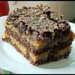 Шоколадова ябълкова пита без тесто - ръсиш всичко в тавата и после печеш! Става вкусотия неземна::