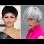 15 ултра привлекателни прически на къса коса - тенденции и изпълнения (Снимки):