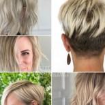 Руса къса коса за жени над 40 години