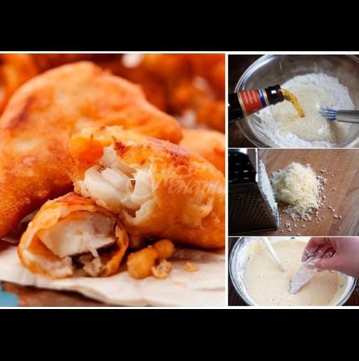 7 основни панировки за вкусна рибка - с бира е пухкава, с кашкавал е хрупкава, с белтък е божествена!