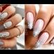 Зимен дизайн за дългите нокти (Снимки):