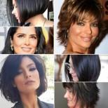 11 модерни къси прически за тъмна коса