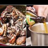 Свинско печено в бира - разпада се от крехкост и сочност! Евала на тоя, който го е измислил: