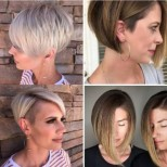 Асиметрични прически за къса коса за дами над 40