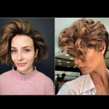 Обемни прически за къса коса 2021 - правилният избор (Снимки):
