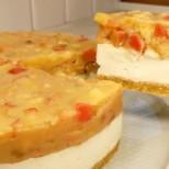 Без печене-Карамелена торта Ябълки в снега - нежен десерт без печене с крема сирене