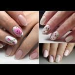 Късите нокти са хит тази пролет - украси ги с цветя и комплиментите ще завалят! Много идеи (Снимки):