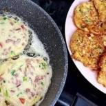 Кисело мляко, яйце, колбас и сирене-Проста смес за прекрасна закуска