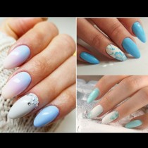Маникюр с цвят на ясно синьо небе! 17 лазурни маникюра, красиви като миниатюра (Снимки):