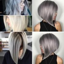 Прическа каре на платинено руса коса-Основни тенденции