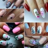23 нови идеи маникюри с цветя за къси нокти