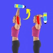 Как да се отървем от увисналите ръце. 3 прости упражнения от дивана ви
