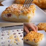 4 яйца, захар и брашно, само забърквам и пека-Почти всеки ден правя божествения пай на баба!-Видео