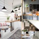 20 кукленски дизайна за малка кухня - чар и уют на няма и 2 квадрата! (Снимки):