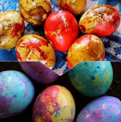 Ето какво да сложиш в боята за яйца, за да станат истински пъструшки - 1 лъжица е достатъчна::