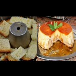 Редя сухия козунак на дъното, заливам с яйцата и пека - става божествена сладост!