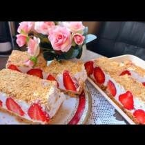 Лека ягодова торта без печене и БЕЗ захар - ефирна нежност и невероятен аромат: