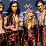 Фронтменът на Монескин, победителите от Евровизия-Дамяно Давид-Ето какъв е-Какво прилечно момченце е бил-Снимки
