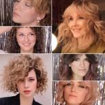 Модерни прически с бретон за чуплива коса 2021г