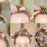 Как правилно да навиваме косата на ролки