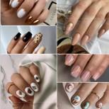 Светли модерни маникюри за средни и къси нокти